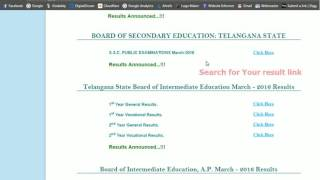 AP SSC Results - AP 10th result check procedure