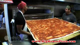 أكبر بيتزا في العالم من مطعم بيج ماما