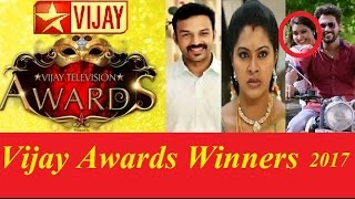 VIJAY TELEVISION AWARDS 2017 WINNERS LIST BEST ACTOR ACTRESS SERIAL PAIR