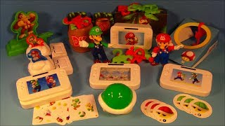 2012 SUPER MARIO Bros. NINTENDO Wii U SET OF 10 BURGER KING KID'S MEAL TOY'S VIDEO REVIEW