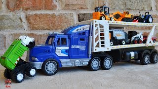 Garbage Truck Videos For Children l Bad Bully Truck vs Construction Trucks l Garbage Trucks Rule