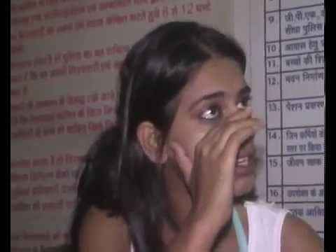 Indian girl Abusing Police In Hindi