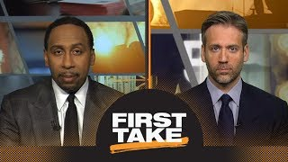 Stephen A. and Max react to Patriots beating Jaguars in AFC Championship   First Take   ESPN