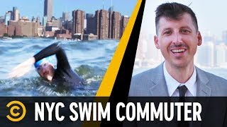NYC Man Who Swims to Work Every Day - Mini-Mocks