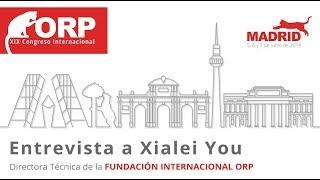 Entrevista A Xialei You ➡️ DIRECTORA TÉCNICA DE LA FUNDACIÓN INTERNACIONAL ORP