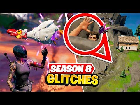 8 SECRET Fortnite Glitches Season 8