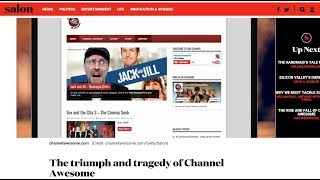 Responding to Salon Article on Channel Awesome - #ChangeTheChannel
