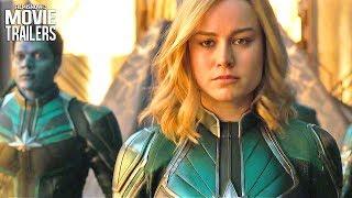 CAPTAIN MARVEL First Look Trailer NEW (2019) - Brie Larson Superheroine Marvel Movie