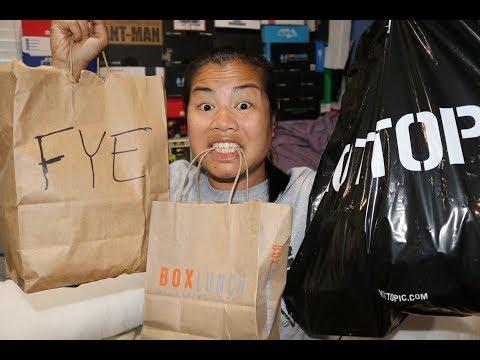 2017 July Mall Haul - [Hot Topic, FYE, Box Lunch, JC Penney]
