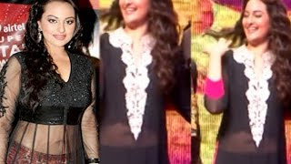 Sonakshi Sinha In Transparent Shows-off is Tummy Dress