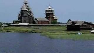 Wood Church bells ring on Kizhi, Russia
