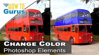 How to Change Color of Anything Replace Color Tool Adobe Photoshop Elements 15 14 13 12 11 Tutorial
