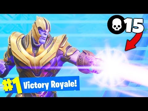 NEW THANOS and GAUNTLET Gameplay in Fortnite Battle Royale