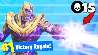 *NEW* THANOS and GAUNTLET Gameplay in Fortnite Battle Royale