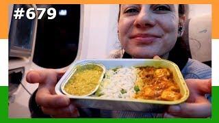 DELICIOUS FLIGHT INDIAN FOOD BRITISH AIRWAYS AMSTERDAM TO MUMBAI DAY 679  | TRAVEL VLOG IV