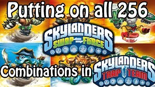 Putting on all 256 Skylanders Swap Force Combinations in Trap Team