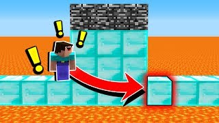 IS THIS MINECRAFT JUMP EVEN POSSIBLE?... (LAVA PARKOUR)