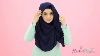 Tutorial Tudung Alexa Instant Shawl by Heaxabell Boutique