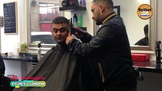 Abdullah Bai, Cutting Hair In Saloon London BARBER STREET E1