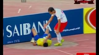 إصابة بوشا فى مباراة الإسماعيلي والنصر للتعدين