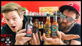 BLIND INSANE HOT SAUCE RANKING!
