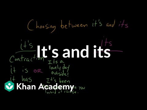 Xxx Mp4 Choosing Between Its And It's The Apostrophe Punctuation Khan Academy 3gp Sex