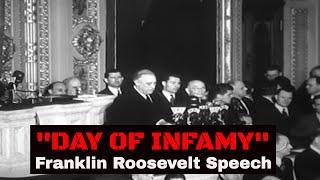 FDR DECLARES WAR (12/8/41) - Franklin Delano Roosevelt , WWII , Infamy Speech , 24400