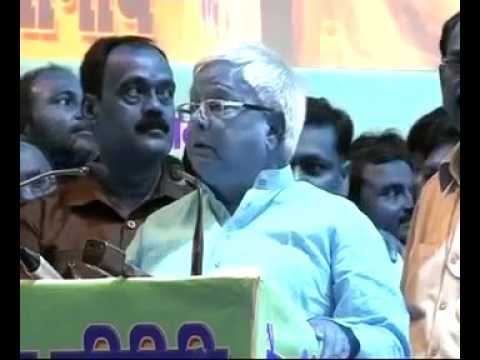 Lalu talking before Bihar's election