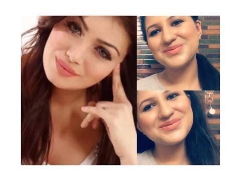 Ayesha Takia makeup look/ nude peach lips/ everyday glam makeup tutorial/ Look Gorgeous