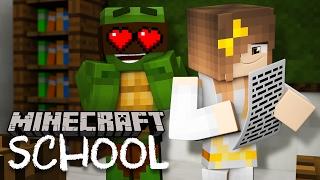 Minecraft School -TINY TURTLE FALLS IN LOVE!?