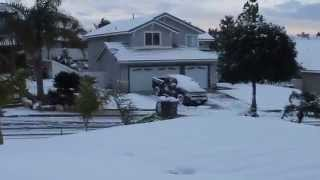 Snow in Lake Elsinore, California New Years Eve Morning 2014
