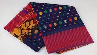 Blue Dhakai Jamdani Saree || Jamdani Saree Review # 6