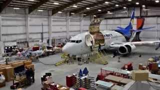 KF Aerospace - B737-300 Quick Change Combi Conversion Timelapse