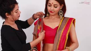 How To Wear a Wedding Saree In Bengali Style Step By Step | Bengali Bridal Saree Draping