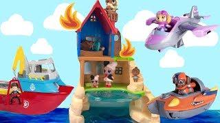 Paw Patrol Sea Patrol Toy Videos for Kids Compilation