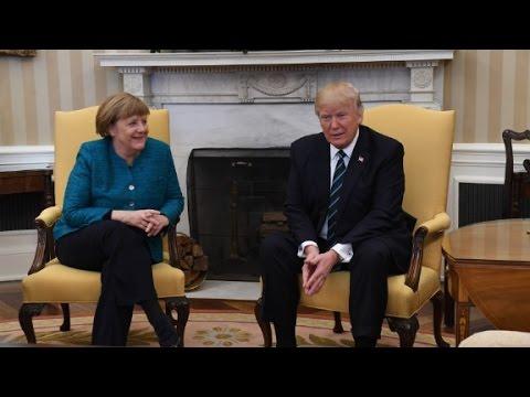 Trump meets with Merkel