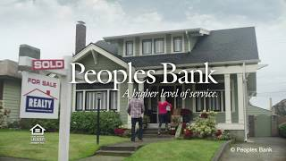 Time to buy a home? Peoples Bank can help.