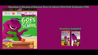 Barney Goes to School 1998 Actimates VHS Opening & Closing
