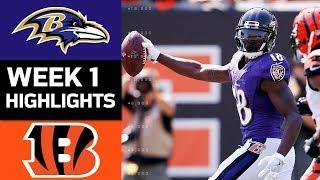 Ravens vs. Bengals | NFL Week 1 Game Highlights