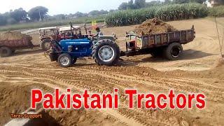 Excavator Solar 130 & Pakistani Tractors Work Driver Stunt Skill Performance Documentary