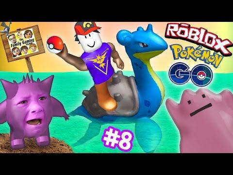 ROBLOX 8 POKEMON GO GET THAT LAPRAS Banana Smash Your Face FGTEEV Gameplay