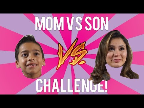 Mom Vs Son Challenge!!! LOSER GETS PUNISHED!! ANDREA ESPADA VS KING FERRAN!