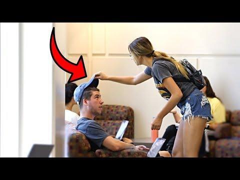 Stealing Guys Hats Prank