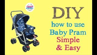 DIY ! How to Use the Baby Pram? Common for Most Prams Under 7000 Rupees - Sweet Angels - Rajkot