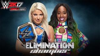 WWE 2K17 - ELIMINATION CHAMBER 2017: Alexa Bliss vs Naomi