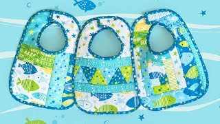 How to Make June Tailor Quilt As You Go Baby Bibs | A Shabby Fabrics Tutorial
