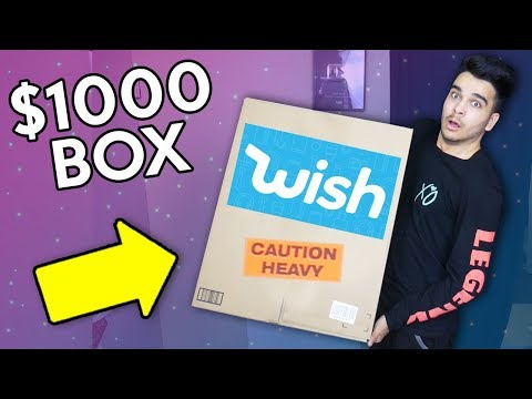 Unboxing 100 Random WISH PRODUCTS HUGE 1000 BOX OPENING