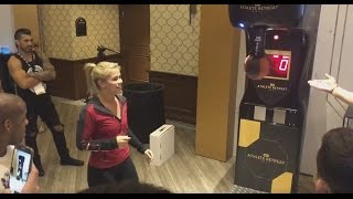 UFC Fighters Compete in Punching Machine at UFC Athlete Summit