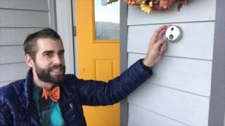 ★★★★★ Installation SkyBell HD Silver WiFi Video Doorbell - Amazon - Installing