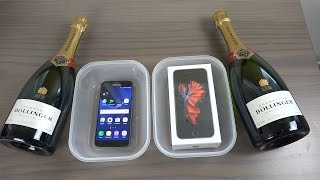 Samsung Galaxy S7 vs. iPhone 6S Champagne Freeze Test 9 Hours! Will It Survive!?